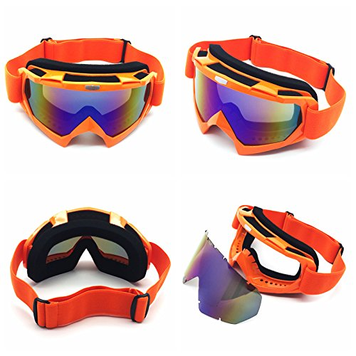 Colorful lens HCMAX Motorcycle Goggles Motocross Glasses Harley Helmet Fog-proof Windproof Riding Bike UV Protection Snowmobile Sunglasses Mask Valentines Day Gift