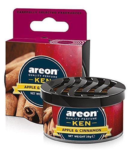 Areon Ken Lufterfrischer Dose Auto Duft Apfel Zimt Autoduft Apple Cinnamon Duftdose Wohnung Erfrischer 3D Pack x 1 (Zimt-gelee)