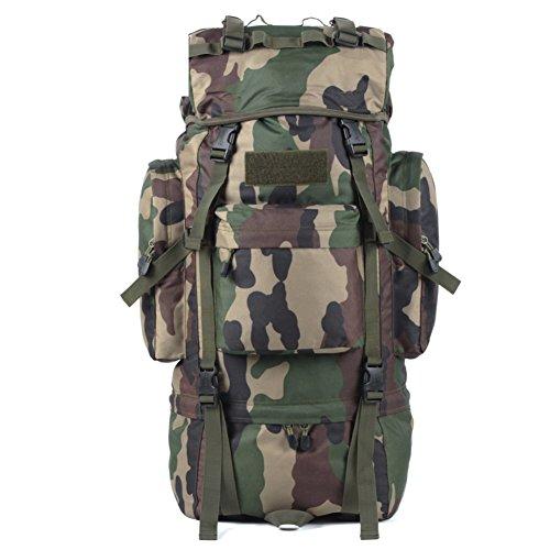 borse alpinismo esterno/65LZaino da viaggio impermeabile-Nero 65L la mimetizzazione 1