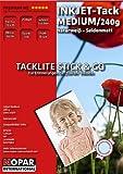 Tacklite Stick & Go-Papier photo (soie mat autocollante et repositionnable amovible 10 x 15 cm)