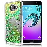GrandEver Coque Dure PC pour Samsung Galaxy A5 2016 A510 Housse Glitter Briller Sable Étoiles Paillettes Etui Slim Cas Plastique Rigide Back Cover Haute Qualité Case Couverture Anti-Choc Anti Rayures --- Vert