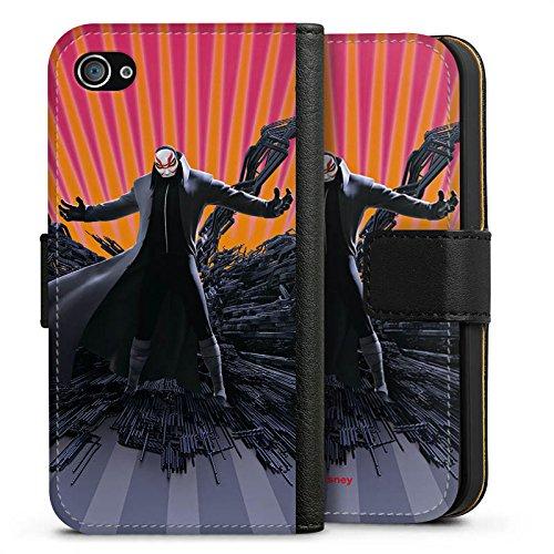 Apple iPhone X Silikon Hülle Case Schutzhülle Disney Baymax Professor Callaghan Merchandise Sideflip Tasche schwarz