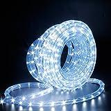 LED Lichterschlauch, Lichtschlauch Partyzelt Beleuchtung Licht Leiste 36 LEDs/M Schlauch für Innen und Außen IP65 10M Kaltweiß
