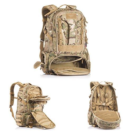 YAKEDA Große Taktische Outdoor Trekking Rucksäcke Militär Tasche zum Wandern Camping Bergsteigen 45L-BKF-007 (Dschungel digitale Tarnung) Multicam Tarnung
