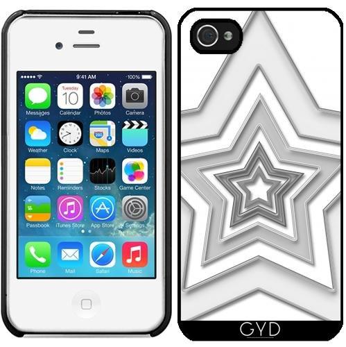 Leder Flip Case Tasche Hülle für Apple iPhone 5/5S - Stern 2 Cb by Digital-Art Starre Kunststoff