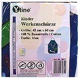 Yline 1 Stück Kinderschürze blau Werken, Kinder Bastelschürze Werkschürze Gartenschürze, Schürze, 3072