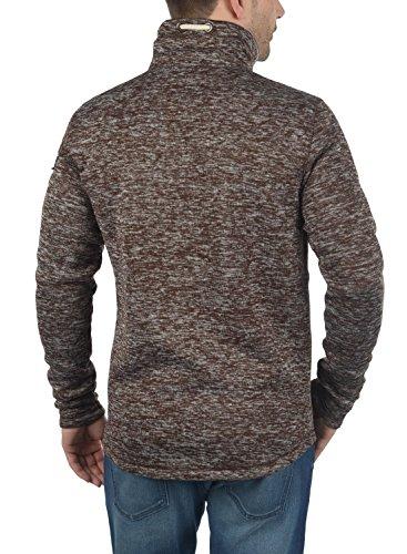 SOLID Luki Herren Fleece-Jacke Übergangsjacke mit Stehkragen aus hochwertigem Material Meliert Coffee Bean Melange (8973)