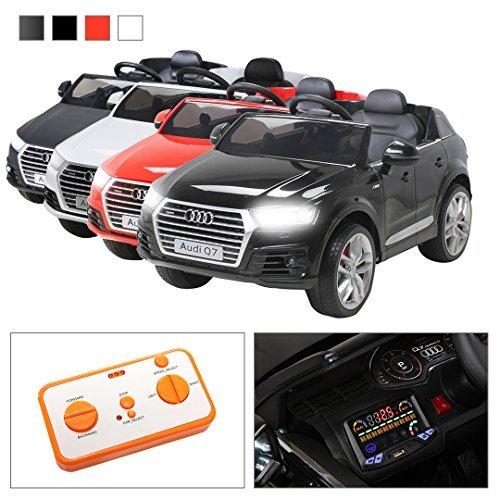 Kinder Elektroauto Audi Q7 2017 Original Lizenz Kinderauto Kinderfahrzeug Elektro Auto Spielzeug Für Kinder (Schwarz)