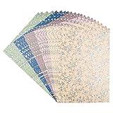Ideen mit Herz Edel-Dekorpapier Pearl | Deko-Karton | 20 Bogen | geprägt & folienveredelt | DIN A4 | 250 g/m² | je 5 à 4 Bogen (Ornamente)