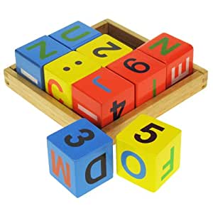 Bigjigs Wooden Toys Alphabet Block Tray