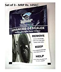 Lygienic Advanced Descaler (Set of 3) Washing Machine Deep Cleaner Powder by eGalaxy Traders