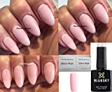 BLUESKY 80504Tieferlegungsfedern Romantique Licht-Nude Pink Nagellack-Gel UV-LED Soak Off 10 ml plus 2 LuvliNail Shine Tücher