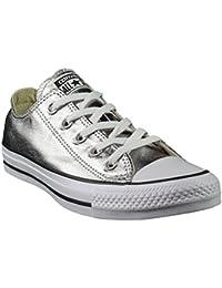 Converse Silberne Converse Sneaker CT OX Damen Schuhe