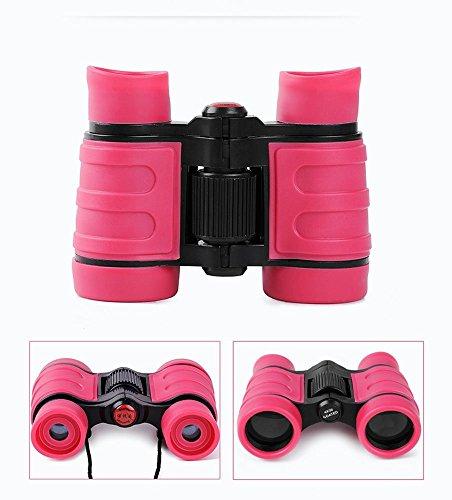 Ferngläser für Kinder Outdoor Kinderfernglas Spielzeug für Jungen Mädchen Studenten Geschenke Leicht Mini Fernglas (rosa)