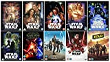 STAR WARS 1-10 Complete BRAND NEW EDITION Collection: EPISODE 1 I - The Phantom Menace / EPISODE 2 II - Attack Of The Clones / EPISODE 3 III - Revenge Of The Sith / EPISODE 4 IV - A New Hope / EPISODE 5 V - The Empire Strikes Back / EPISODE 6 VI - Return Of The Jedi / EPISODE 7 VII - The Force Awakens / EPISODE 8 VIII - Rogue One: A Star Wars Story / EPISODE 9 IX - Star Wars: The Last Jedi / EPISODE 10 X - Solo: A Star Wars Story + Special Features + Bonus Materials + Extras