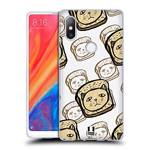 Head Case Designs Hackbraten Komische Köpfe Soft Gel Huelle kompatibel mit Xiaomi Mi Mix 2S