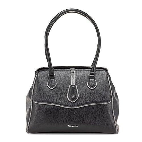 TAMARIS PENELOPE Handtasche, Doctor's Bag, 4 Farben: schwarz, nut-mocca braun, navy comb oder rose comb Schwarz