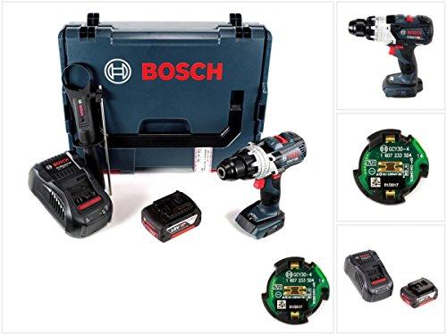 Preisvergleich Produktbild Bosch GSR 18 V-85 C Professional Li-Ion Brushless Akku Bohrschrauber in L-Boxx mit GCY 30-4 Connectivity Modul und 1x GBA 5,0 Ah Akku und Ladegerät