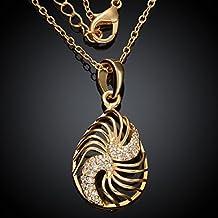 joyliveCY 2016la moda mujer elegante 2015collar Vintage cobre novela camiseta de perchero de pared de chapado en oro colgante de collar de cadena