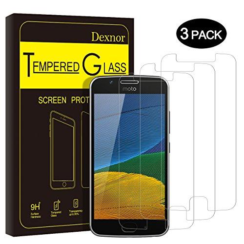 Touch Pink Leder (Motorola Moto G5 Panzerglas, [3 Stück] Dexnor Lenovo Motorola Moto G5 Schutzfolie Displayschutzfolie Glas Folie Anti-Fingerabdruck Anti-Kratzen Glasfolie Panzerfolie 9H Härte, 0.33mm, 99% Transparent, 2.5D Kanten)