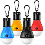 Camping Lights, DeNOME Tent Lights with Carabiner Clips - Waterproof Portable Battery Operated