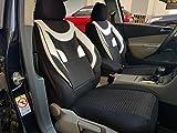 Sitzbezüge k-maniac | Universal schwarz-Weiss | Autositzbezüge Set Vordersitze | Autozubehör Innenraum | Auto Zubehör für Frauen und Männer | V434063 | Kfz Tuning | Sitzbezug | Sitzschoner
