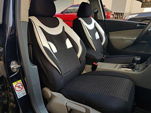 Sitzbezüge k-maniac   Universal schwarz-weiss   Autositzbezüge Set Vordersitze   Autozubehör Innenraum   Auto Zubehör für Frauen und Männer   V434063   Kfz Tuning   Sitzbezug   Sitzschoner