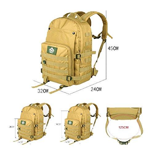 YAAGLE Reisetasche Gepäck Damen und Herren Unisex Freizeit Business wasserdicht Laptoptasche Schüler Schultasche Tarnung Schultertasche army yellow
