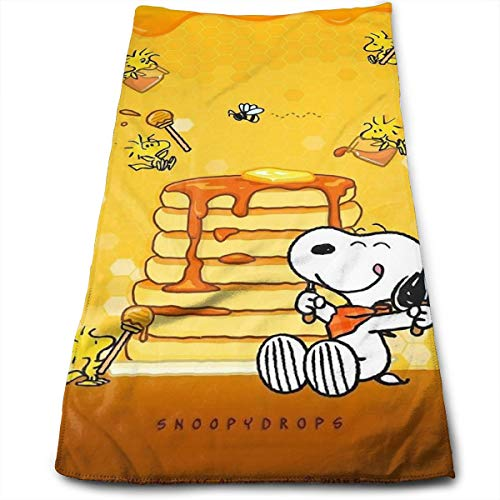 DailiH Super saugfähige Sporthandtücher Snoopy Essen Honig Handtuch/Badetuch/Strandtuch - für Fitness, Spa, Bad, Pool, Strand, Reisen 11,8 X 27,5 - Haarpflege Essen