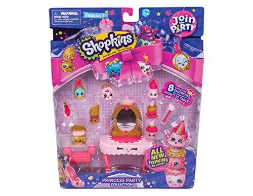 Preisvergleich Produktbild Shopkins - Serie 7 - Princess Party - Sammelfiguren Kollektion mit 8 Minifiguren + Zubehör