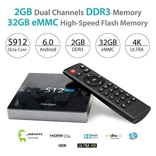 2GB/32GB/4K/1000M Lan]EgoIggo S912 Android TV Box S12 Pro