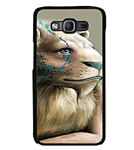 Fuson Premium Lion King Metal Printed with Hard Plastic Back Case Cover for Samsung Galaxy On 5