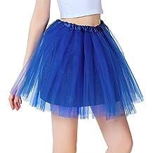 InnoBase Tutu Falda de mujer falda de tul 50's Short Ballet 3 capas Accesorios de vestimenta de baile para mujeres Niñas 8 colores