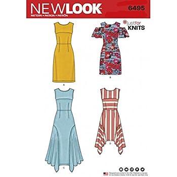 Top Rock /& Kleid New Look Damen Schnittmuster 6458/Knit Hose