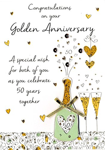 (50th Golden Anniversary Greeting Card Second Nature Just To Say Cards)