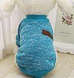 Ularma Kleine Haustier Hund Pullover Soft Bequem Sweatshirt 8 Farben für Teddy Mops Bulldogge (XL, Blau)