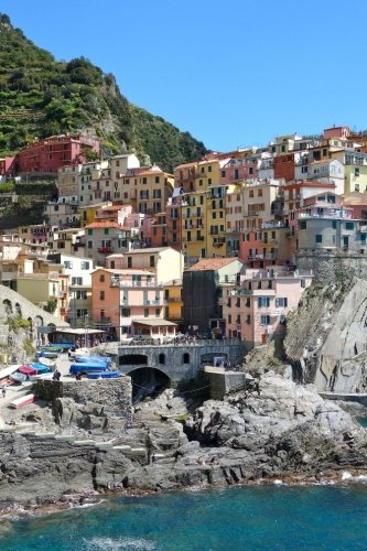 Bird's Eye View of Cinque Terre, Italy Journal: Take Notes, Write Down Memories in this 150 Page Lined Journal