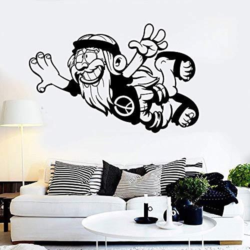 Alte Positive Hippie Friedenssymbol vinyl wandaufkleber aufkleber wohnkultur wohnzimmer diy kunst wandbild tapete 43 * 67 cm