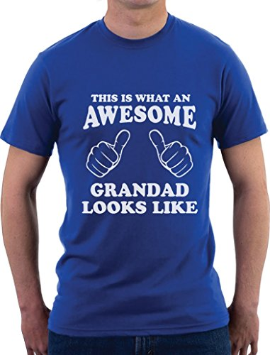 This is What an Awesome Grandad Looks Like - Geschenk T-Shirt T-Shirt Blau