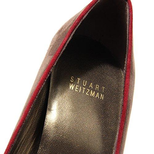 decollete spuntata STUART WEITZMAN scarpa donna shoes women 62164 marrone/tortora/bordeaux