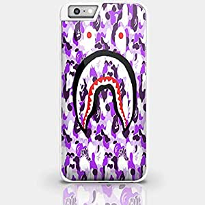 Bape Shark Violet for Iphone and Samsung Galaxy Case (iPhone 6 plus white)