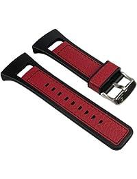 Calypso Ersatzband Uhrenarmband Leder/PV Band schwarz/Rot für K5333/6 K5333