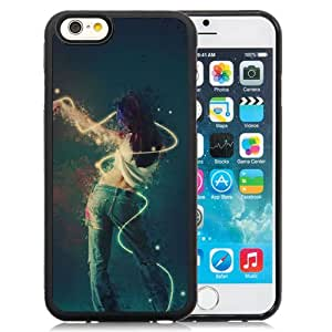 6 Phone cases, Girl Dance Abstract Motion Bird Black iPhone 6 4.7 inch TPU cell phone case