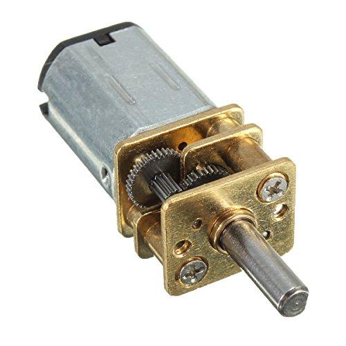 Preisvergleich Produktbild Getriebemotor - TOOGOO(R)DC 6V 100rpm Mini Metall DC-Getriebemotor Mikro Elektro mit Zahnrad 3 mm Schaftdurchmesser Modell: N20