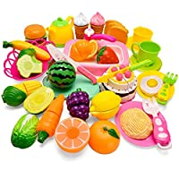 ARANEE Play Food For Kids Play Kitchen Accessories 40 Pcs