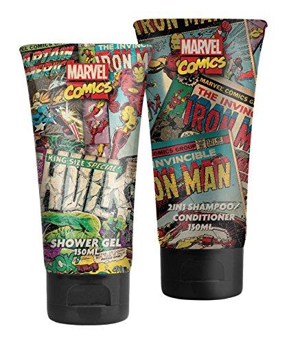 Marvel Comics Held Face und Body Set - Wunder, 1er Pack (1 x 440 ml)