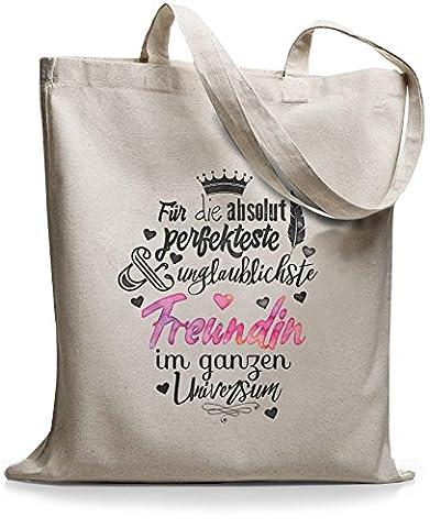 StyloBags Jutebeutel / Tasche Für die absolut perfekteste Freundin , Farbe:natur