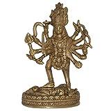 DakshCraft handgefertigt Göttin Kali Messing Statue aus Indien