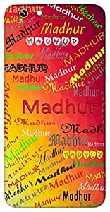 Madhur (Melodious Sweet) Name & Sign Printed All over customize & Personalized!! Protective back cover for your Smart Phone : -Vivo V-5