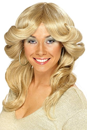 Smiffy's 70's Blonde Flick Wig. Ideal for Disco, ABBA, Farrah Charlie's Angels look